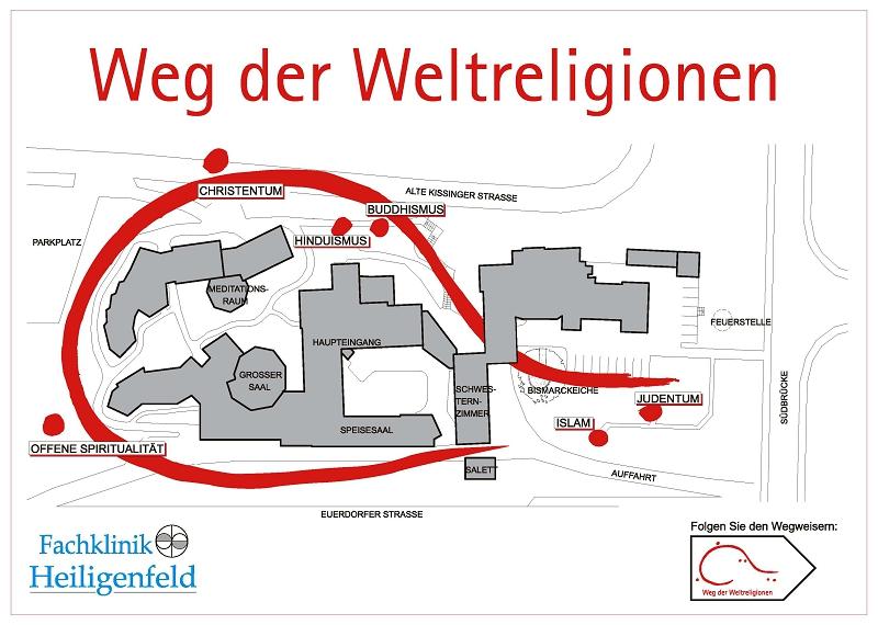 Pavillon der Religionen - Wegeplan